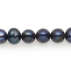 pearl, cultured freshwater (dyed), twilight, 8-9mm semi-round, d grade, mohs hardness 2-1/2 to 4. sold per 16-inch strand.