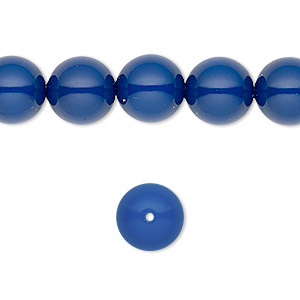 pearl, swarovski crystal gemcolors, dark lapis, 10mm round with 1.3-1.5mm hole (5811). sold per pkg of 25.