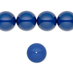 pearl, swarovski crystal gemcolors, dark lapis, 12mm round (5810). sold per pkg of 10.