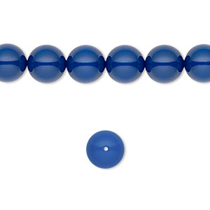 pearl, swarovski crystal gemcolors, dark lapis, 8mm round (5810). sold per pkg of 50.