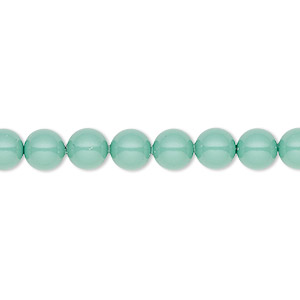 pearl, swarovski crystal gemcolors, jade, 6mm round (5810). sold per pkg of 50.