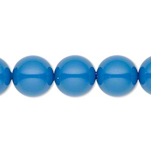 pearl, swarovski crystal gemcolors, lapis, 12mm round with 1.3-1.5mm hole (5811). sold per pkg of 100.