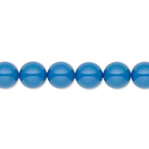 pearl, swarovski crystal gemcolors, lapis, 8mm round (5810). sold per pkg of 250.