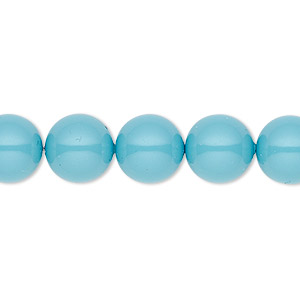 pearl, swarovski crystal gemcolors, turquoise, 10mm round (5810). sold per pkg of 25.
