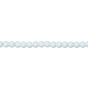pearl, swarovski crystals, crystal pastel blue, 3mm round (5810). sold per pkg of 100.