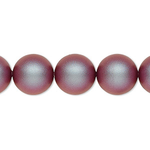 pearl, swarovski crystals, iridescent red, 12mm round (5810). sold per pkg of 10.