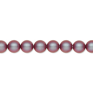 pearl, swarovski crystals, iridescent red, 6mm round (5810). sold per pkg of 500.