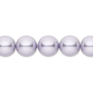 pearl, swarovski crystals, lavender, 10mm round (5810). sold per pkg of 25.