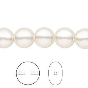 pearl, swarovski crystals, light creamrose, 10mm coin (5860). sold per pkg of 100.