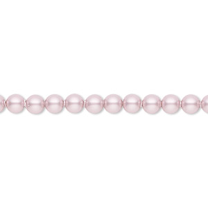 pearl, swarovski crystals, powder rose, 4mm round (5810). sold per pkg of 500.