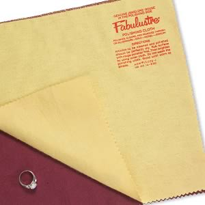 polishing cloth with rouge, fabulustre, 11x9-inch rectangle. sold individually.