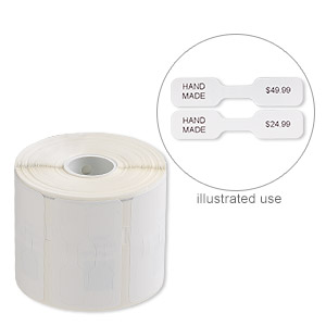 printer label, smartlabels™, white, 2-1/32 x 7/16 inch jewelry/butterfly. sold per pkg of 1,050 tags.