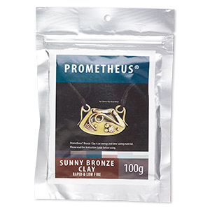 prometheus sunny bronze clay, rapid and low fire. sold per 100-gram pkg.