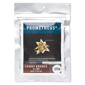 prometheus sunny bronze clay, rapid and low fire. sold per 20-gram pkg.