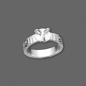 ring, hill tribes, fine silver, 4.5mm wide with crisscross design and 3 loops, size 6 to 7.5. sold individually.