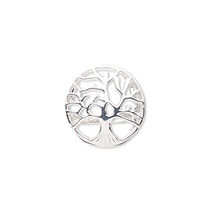 ring, sterling silver, 20mm wide with cutout tree of life, size 7. sold individually.