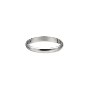 ring, sterling silver, 2.5mm wide, size 8. sold individually.