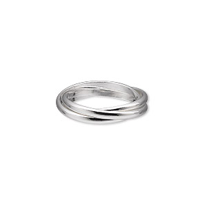 ring, sterling silver, 2mm wide, size 6. sold individually.