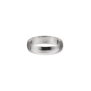 ring, sterling silver, 4mm wide, size 7. sold individually.