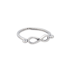 ring, sterling silver, 5mm wide with infinity design, size 8. sold individually.