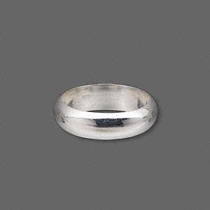 ring, sterling silver, 6mm wide, size 8. sold individually.