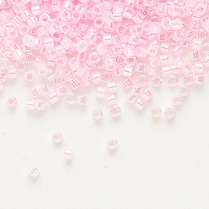 seed bead, delica, glass, ceylon color-lined cotton candy, (db244), #11 round. sold per 50-gram pkg.