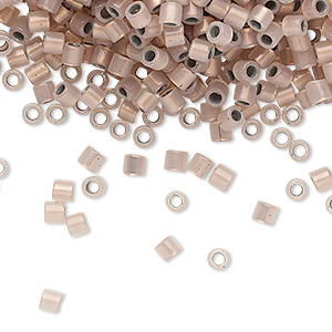 seed bead, delica, glass, copper-lined opal, (dbl0191), #8 round. sold per 250-gram pkg.