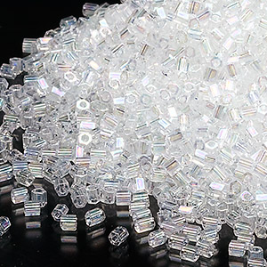 seed bead, miyuki, glass, transparent pearl, (hex-621), #11 hex 2-cut. sold per 7.5-gram pkg.