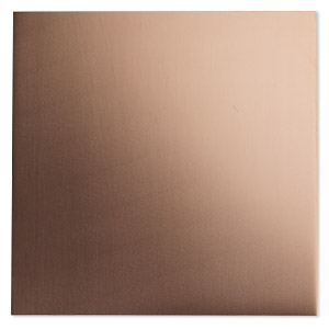 sheet, copper, half-hard, 6x6-inch square, 24 gauge. sold individually.