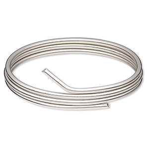 solder wire, canfield pewter-finish™, silver / tin / copper, 2.5-3mm. sold per 1/2 pound spool, approximately 13 feet.