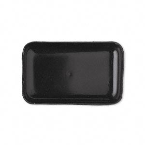 sorting tray, acrylic, black, 4x2-1/2 inch rectangle. sold per pkg of 2.