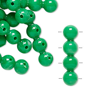 spacer bar, vintage german acrylic, green, 32x8mm 4-strand, fits up to 8mm bead. sold per pkg of 24.