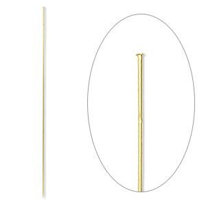 stick pin, gold-finished brass, 5 inches, 18 gauge. sold per pkg of 10.