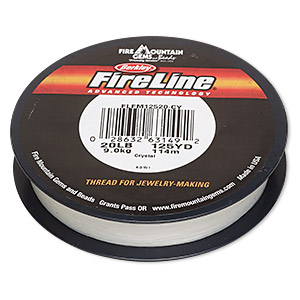 thread, berkley fireline, gel-spun polyethylene, crystal, 0.3mm diameter, 20-pound test. sold per 125-yard spool.