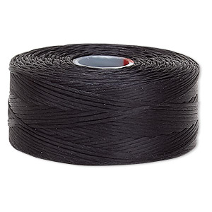 thread, c-lon, nylon, black, size d. sold per pkg of (2) 78-yard bobbins.