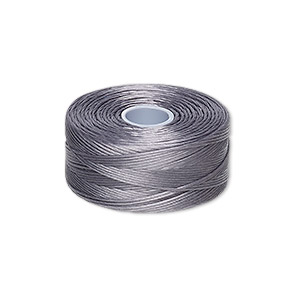 thread, c-lon, nylon, grey, size d. sold per pkg of (2) 78-yard bobbins.