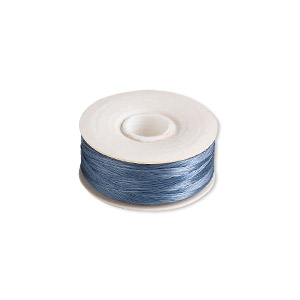 thread, nymo, nylon, royal blue, size oo. sold per pkg of (2) 110-yard bobbins.
