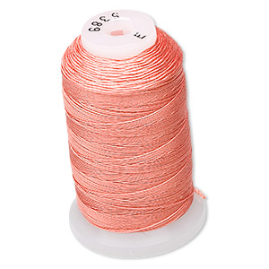 thread, purely silk™, tangerine, size e. sold per 200-yard spool.