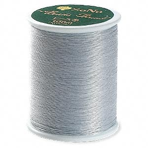 thread, sono, silver grey. sold per 110-yard spool.