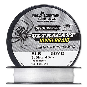 thread, spiderwire, translucent, 0.18mm ultra-cast invisi-braid, 8-pound test. sold per 50-yard spool.