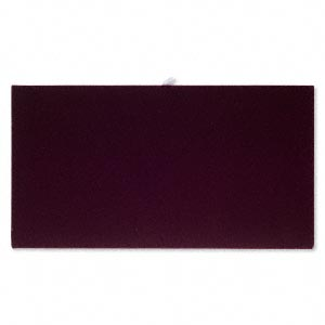 tray insert, velvet, burgundy, 14 x 7-3/4 inch pad. sold individually.