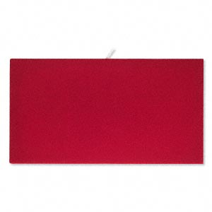 tray insert, velvet, red, 14 x 7-3/4 inch pad. sold individually.