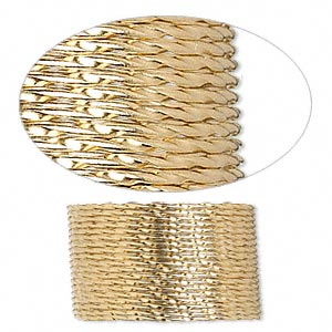 wire, 12kt gold-filled, dead-soft, twisted round, 19 gauge. sold per pkg of 5 feet.