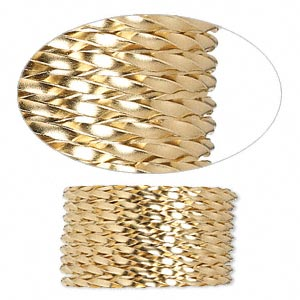 wire, 12kt gold-filled, dead-soft, twisted square, 16 gauge. sold per pkg of 5 feet.