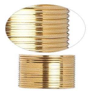 wire, 12kt gold-filled, full-hard, square, 20 gauge. sold per pkg of 5 feet.