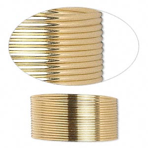 wire, 12kt gold-filled, half-hard, half-round, 21 gauge. sold per pkg of 5 feet.