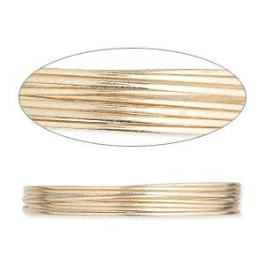 wire, 12kt gold-filled, half-hard, round, 22 gauge. sold per pkg of 5 feet.