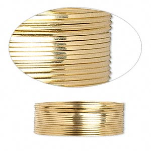 wire, 12kt gold-filled, half-hard, square, 24 gauge. sold per pkg of 5 feet.
