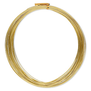 wire, anodized aluminum, gold, round, 20 gauge. sold per pkg of 45 feet.