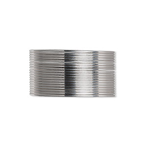 wire, beadalon, stainless steel, 3/4 hard, half-round, 21 gauge. sold per pkg of 12 meters.